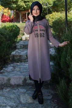 Parille Giyim Vizon Fermuarlı Tesettür Tunik