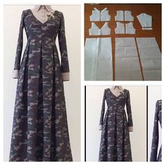 We make it two piece tops. Order via line: modelliste Gamis shirt pattern. We make it two piece tops. Order via line: modelliste … Outfit Essentials, Abaya Pattern, Top Pattern, Sewing Clothes, Diy Clothes, Clothes For Women, Abaya Mode, Hijab Stile, Muslim Dress