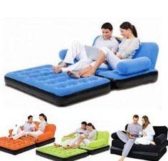5 In 1 Inflatable Sofa Bed Telebrands India Velvet Air Pinterest
