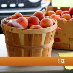 My oh my, baskets of Oklahoma peaches