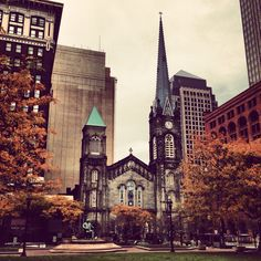 The Old Stone Church on Public Square in Cleveland, Ohio. Photo by Eric Embacher.