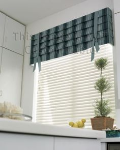 Smith + Noble: Hobble Fabric Valance (for guest bath)