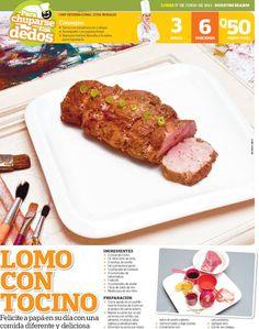 Cocinas y Recetas: Lomo de cinta con tocino