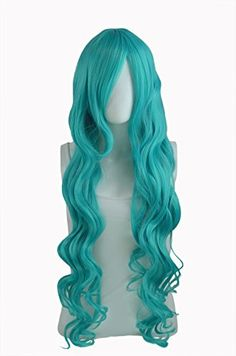 Epic Cosplay Hera Vocaloid Green Curly Wig 38 Inches25VG * Click image for more details. #HairWigs