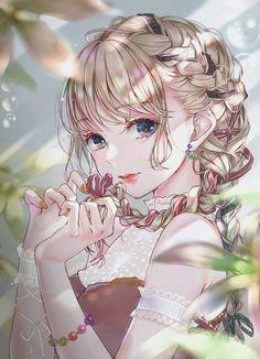 Cr : ao_beni on twt Cool Anime Girl, Pretty Anime Girl, Beautiful Anime Girl, Anime Art Girl, Manga Girl, Anime Girls, Beautiful Girl Drawing, Blonde Anime Girl, Manga Kawaii
