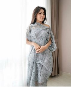 Discover recipes, home ideas, style inspiration and other ideas to try. Kebaya Lace, Kebaya Dress, Kebaya Brokat, Dress Brukat, Batik Dress, Lace Dress, Dress Brokat Modern, Kebaya Modern Dress, Best Wedding Dresses