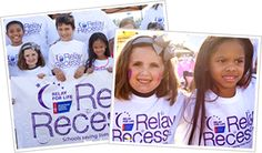 Relay Recess brings Relay For Life to elementary schools nationwide. The program provides elementary school students, teachers, and administrators information on cancer education, physical activity, fundraising and community service.