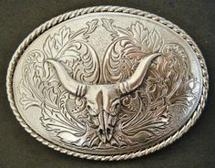 COOL BIG TEXAS LONGHORNS COW STEER WESTERN BELT BUCKLES