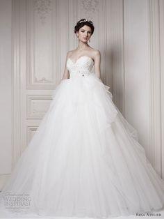 ersa atelier bridal 2013 strapless princess ball gown