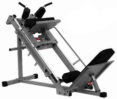 The XMark Leg Press and Hack Squat is your best bet to build lower body strength. This ergonomically designed machine allows you to complete leg presses and hack squats without a spotter. The frame is built for stability and to gu. Gym Equipment Names, Weight Lifting Equipment, Home Workout Equipment, Crossfit Equipment, Training Equipment, Leg Machines, Workout Machines, Fitness Machines, Hack Squat Machine