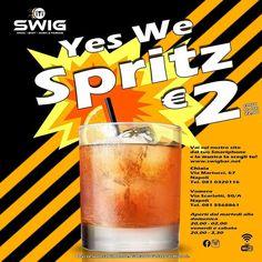 YES WE SPRITZ Fino alle 22:00 si beve SPRITZ a 2 Il tempo trascorso insieme agli amici è tempo ben speso. Il momento perfetto è quello dellAperitivo.  E vi ricordiamo che da noi la musica la scegli tu SWIG - RESISTERE NON PUOI   Via Martucci 67 NAPOLI - Via Scarlatti 50 NAPOLI  Scegli sempre il meglio  Ricorda di bere molto responsabilmente  L'alcol è vietato ai minori   #SwigMusicBar #SwigShotBar #Party #amici #shot #drinkingpeople #shotoflove #drink #yummy #amazing #instagood #swig…