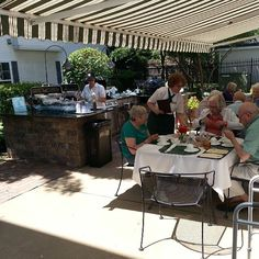 A lot of our residents chose to eat lunch outside today! The favorite entrees today off the grill are cheeseburgers and grilled shrimp kabobs! Grilled Shrimp Kabobs, Clarendon Hills, Birches, Cheeseburgers, Eat Lunch, Assisted Living, Entrees, The Outsiders, Grilling