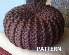 KNITTING PATTERN 4 Knitted Pouf Floor cushion by isWoolish on Etsy
