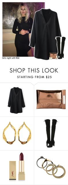 """""""#2326"""" by sofi-camacho ❤ liked on Polyvore featuring N°21, Tom Ford, Stuart Weitzman, Yves Saint Laurent, Valentino and malihood"""