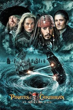 2007 - Pirates of the Caribbean - Am Ende der Welt Captain Jack Sparrow, Film Disney, Disney Movies, Pixar Movies, Intermediate Colors, Bateau Pirate, On Stranger Tides, Johny Depp, The Lone Ranger