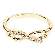 Women's Punk Infinity Golden Silver CZ Ring Get Super Saving discounts up to 80% Off at Light in the Box with coupon.