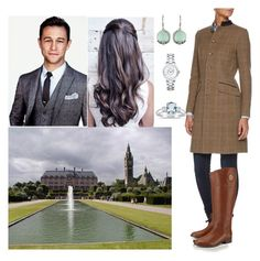 """""""Walking around of Eaton Hall with Joseph"""" by louiseofgermany ❤ liked on Polyvore featuring Christian Dior, Tory Burch, Vintage America and Marquee Jewels"""