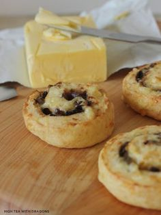 Cheese & Caramelised Onions Pinwheel Scones | High Tea with Dragons