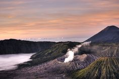 One for the adventurous: Mount Bromo, Indonesia. -   Mount Bromo or Gunung Bromo as its known to the locals, sits at 2,329m and despite being just one of 129 volcanoes in Indonesia, remains the best known thanks to its picture-perfect cone and accessibility. Set in the Bromo Tengger Semeru National Park in East Java, Bromo is most commonly accessed from the nearby mountain village of Cemoro Lawang. Summit in time for sunrise for the best views.