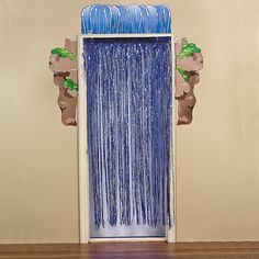 Waterfall Door Curtain with Border - OrientalTrading.com Entrance to Underwater World room...