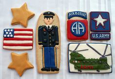Create Army cookies! Cute idea for any homecoming party!