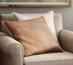 Metallic Printed Flax Pillow Cover #potterybarn