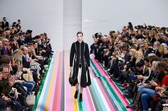 From candy stripes to spaceships, these sets are anything but ordinary. Fashion Runway Show, Fashion Week 2016, Nyfw 2016, Grand Hyatt, Candy Stripes, Set Design, Who What Wear, Salvatore Ferragamo, Showroom Ideas