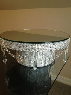 16 Rhinestone Diamond Wrap Wedding Cake Stand by PadipaDesigns, $105.00