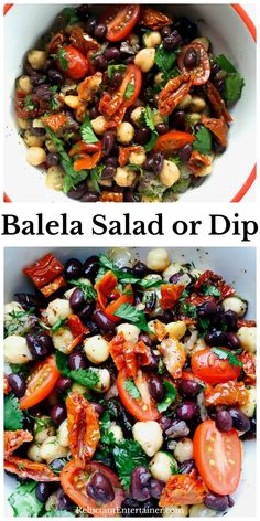 A delicious middle Eastern salad, Balela Salad is the perfect salad or dip for gluten-free, vegetarian, or vegan guests! Served as a black bean salad, and optional to add feta Salad Recipes, Diet Recipes, Vegetarian Recipes, Cooking Recipes, Healthy Recipes, Middle Eastern Salads, Jai Faim, Sans Gluten, Gluten Free