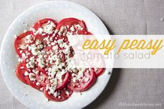 tomatoes+salad+easy | Found on thehandmadehome.net