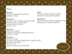 Organize sem Frescuras | Rafaela Oliveira » Arquivos » Checklist da limpeza diária da casa