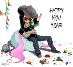 New year special - Party kind'a hard by maskman626.deviantart.com on @DeviantArt HAPPY NEW YEAR EVERYONE!
