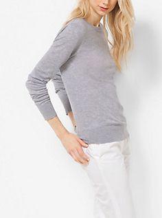 Cutout Cashmere-Blend Sweater by Michael Kors