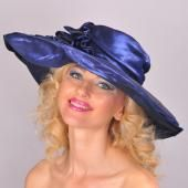 Royal Blue Sateen Picture Hat