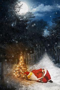 Ausschnitt aus einer Illustration zu Weihnachten Poster, Illustration, Painting, Santa Clause, Christmas Cards, Neckline, Christmas, Illustrations, Painting Art