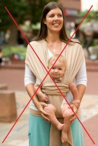 Nine reasons NOT to carry your baby facing out:  A very informative article that doesn't attack, but educates moms and dads on why front facing baby carriers are really not the best option for you or baby.