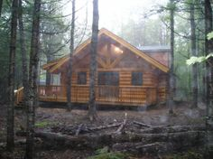 Log Cabin In The Woods | log home is an all seasons full log cabin nestled in the woods ...