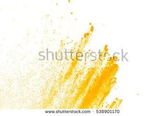 abstract powder splatted background,Freeze motion of yellow powder exploding,throwing orange dust on white background. - Shutterstock Premier