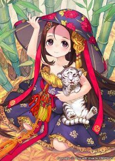 Menina e o tigre branco