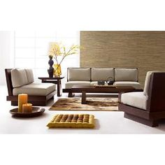 Image result for low profile wooden couch