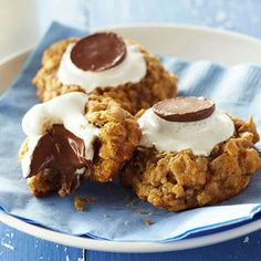 S'more Cookies - absolutely making these (maybe even a few with some almond raspberry jam in the center also)