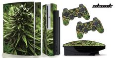 PS3-Original-Designer skin for FAT Playstation 3 System, PS3 Controller skin included - WEEDS2-SKUNK-420  $12.97 Save 48% Amazing Discounts Your #1 Source for Video Games, Consoles & Accessories! Multicitygames.com Click On Pins For More Info