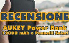 Batteria Esterna Aukey con Pannelli Solari, 12000 mAh Aukey Power Bank 12000 mAh potrebbe essere la vostra scelta se volete ricaricare due dispositivi in contemporanea, anche con energia solare. Tecnologia Ai per una ricarica intelligente per la lunga v #recensione #batteria #pannellosolare