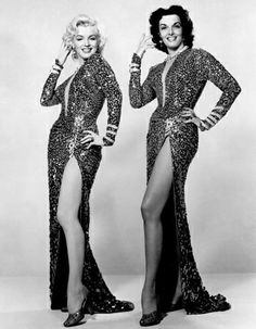 Jane Russell and Marilyn Monroe 1952
