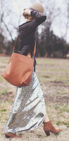 Love this oversized shoulder bag
