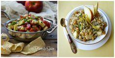 Fall food ideas: apple and avocado salsa, walnut, apple and barley salad