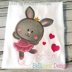 Belliboos Bunny Ballerina Applique