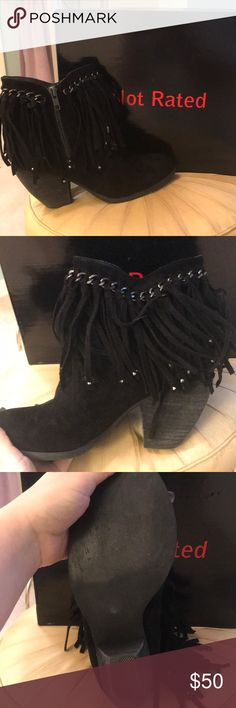 Not rated boots Worn once or twice comes with box Not Rated Shoes Ankle Boots & Booties