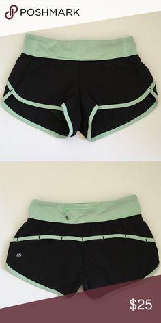 Lululemon mint shorts Size 2, gently worn! lululemon athletica Shorts