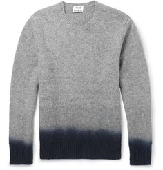 Acne Studios Dip-Dye Mélange-Knit Wool Sweater | MR PORTER